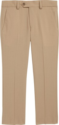 Tallia Solid Wool Blend Flat Front Trousers