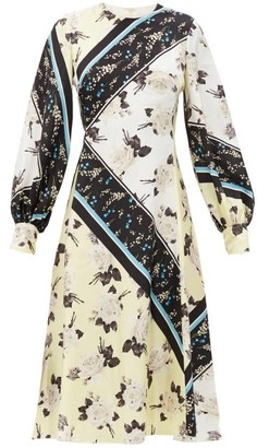 Erdem Annette Rosemont-willow Print Silk-georgette Dress - Yellow Print