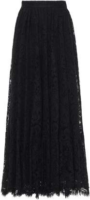 Dolce & Gabbana Gathered Cotton-blend Corded Lace Maxi Skirt