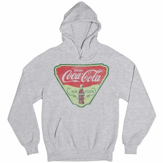 Coca Cola Coca-Cola Drink Ice Cold Women's Grey Heather Hoodie (Small)