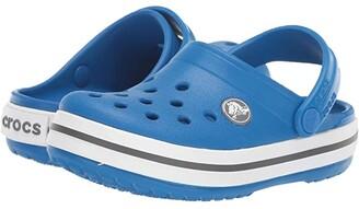 Crocs Crocband Clog (Toddler/Little Kid) (Bright Cobalt/Charcoal) Kids Shoes