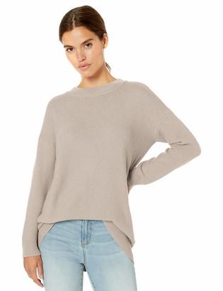 Daily Ritual Amazon Brand Women's Wool Blend Texture-Stitch Crewneck Pullover Sweater