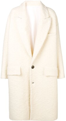Ami Oversize Two Buttons Coat