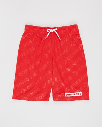 Converse Wordmark Jacquard Mesh Shorts - Teens