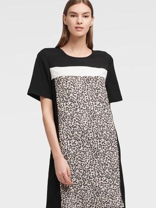 DKNY Women's Leopard Print Dress - Multi - Size 00