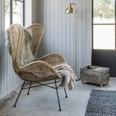 Graham and Green Rattan Wing Chair