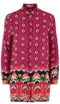 Etro Ikat Silk Tunic Shirt