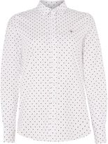 Gant Stretch oxford spot print shirt
