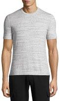 Michael Kors Space-Dye Pima Cotton Crewneck T-Shirt, Gray