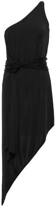 Mason by Michelle Mason Asymmetric One-shoulder Satin-jersey Dress
