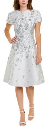 Teri Jon By Rickie Freeman Brocade A-Line Dress