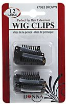 Donna Brown Large Wig Clips