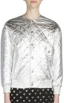 Saint Laurent Metallic Quilted Leather Bomber Jacket