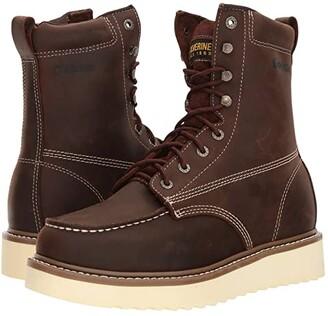 Wolverine Loader 8 Boot Soft Toe (Brown) Men's Work Boots