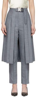 Fendi Blue Pleated Skirt Trousers