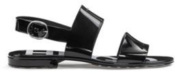 HUGO BOSS Italian-made sandals in glossy PVC