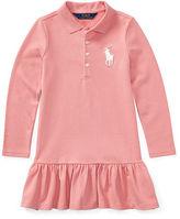 Ralph Lauren 2-6X Cotton Long-Sleeve Polo Dress