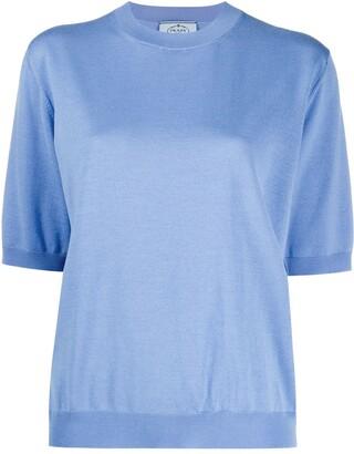 Prada half-sleeved crewneck jumper