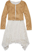 Arizona Long-Sleeve Suede Peasant Dress - Girls 7-16 and Plus