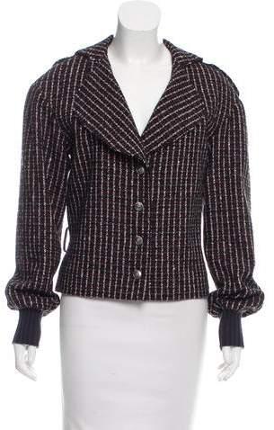 Chanel Belted Wool-Blend Jacket