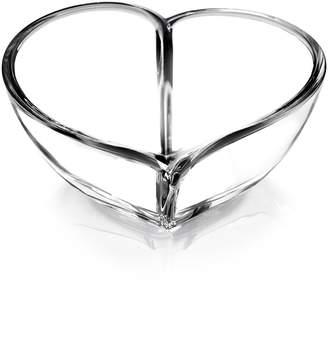 Orrefors Heart Crystal Bowl