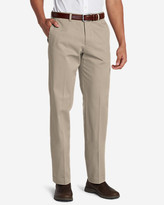 Eddie Bauer Men's Wrinkle-Free Slim Fit Flat-Front Performance Dress Khaki Pants