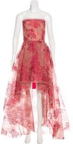 Monique Lhuillier Lace High-Low Gown