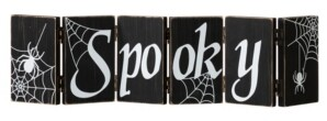 """Glitzhome 20"""" L Halloween Wooden Hinged Table Sign"""