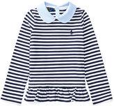 Ralph Lauren 2-6X Contrast-Collar Striped Top