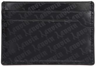 Lanvin Black Goth Logo Flat Card Holder