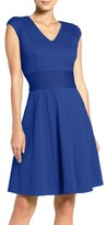 Eliza J Women's Ponte Fit & Flare Dress