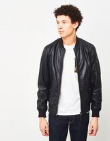 Schott NYC Leather Bomber Jacket Black