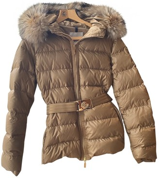 Moncler Hood Gold Synthetic Coats