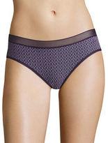 DKNY Mesh-Trimmed Printed Bikini Panties