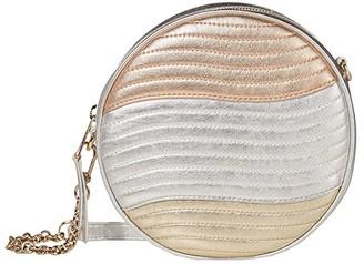 Furla Swing Mini Crossbody Round (Cipria/Silver/Platino) Handbags