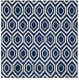 Safavieh Chatham Collection CHT731 Rug, Dark Blue/Ivory, 7' Square
