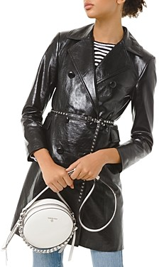 MICHAEL Michael Kors Patent-Leather Trench Coat