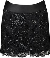 Sequin Lace Overlay Skirt