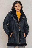 Calvin Klein Mearla Sherling Biker Jacket