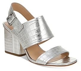 Via Spiga Women's Harriett Block Heel Sandals