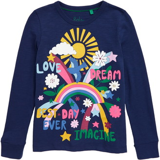 Boden Retro Graphic Long Sleeve Tee