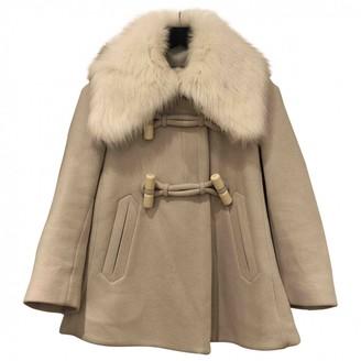 Chloé Ecru Wool Coat for Women