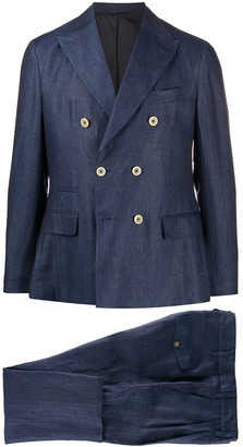 Eleventy Double-Breasted Two Piece Suit