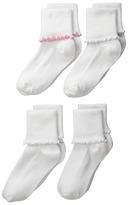 Jefferies Socks Seamless Ripple Edge 4-Pack Girls Shoes