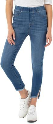 Liverpool Chloe High Waist Side Slit Pull-On Skinny Jeans