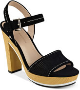 Tommy Hilfiger Weslee Perforated Platform Sandals Women's Shoes