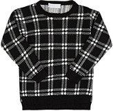 T-Love Plaid Intarsia Knit Sweater