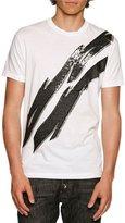 DSQUARED2 Glam Rock Lightning Bolt T-Shirt, White
