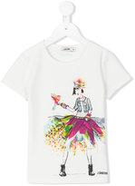 Junior Gaultier printed T-shirt - kids - Cotton/Spandex/Elastane - 12 yrs