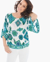 Chico's Scarf-Print Top